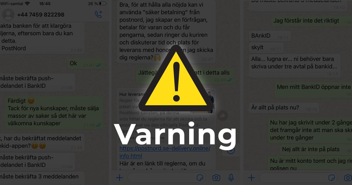 Varning för bedrägerier via Blocket